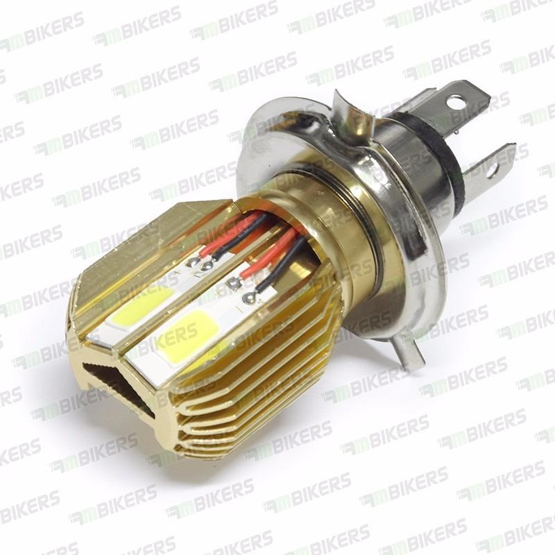 lampada farol led moto 6000k h4 12v sem reator tipo xenon r 42 00 em mercado livre. Black Bedroom Furniture Sets. Home Design Ideas