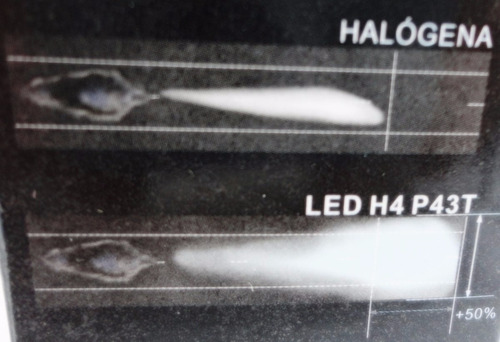 lampada farol led moto h4 super branca continua / alternada
