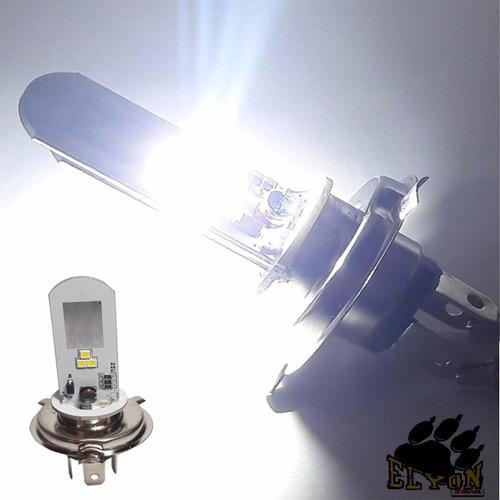 lampada farol led para moto h4 super branca