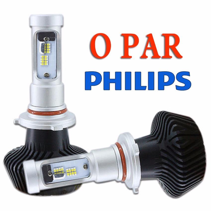 lampada farol led philips 3500k 5000k 6000k h4 h7 h3 h1 h11 - r$ 324