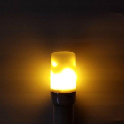 lampada fogo 7w led efeito chama tocha vela flame light