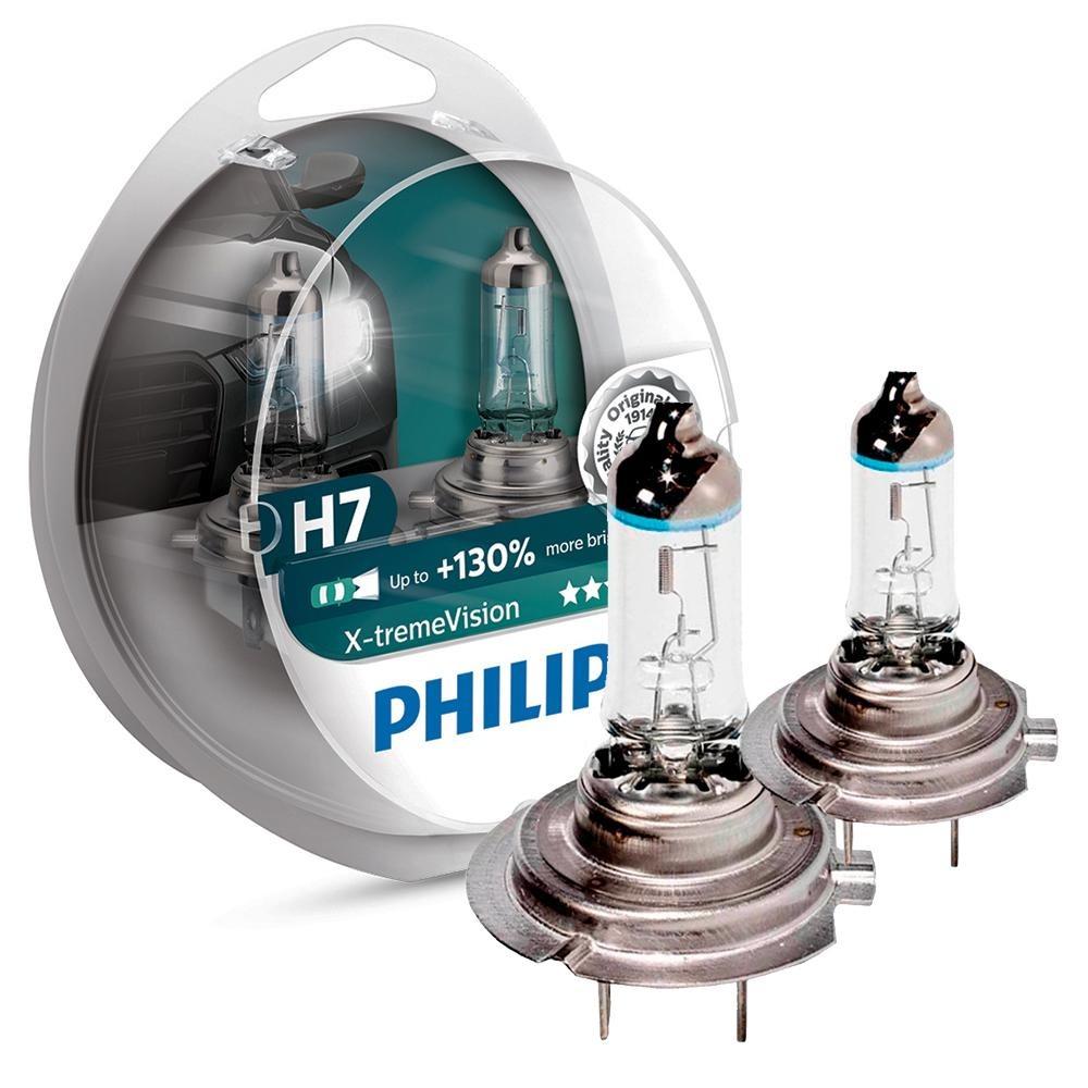 586622bd03e Lampada H7 Philips Xtreme Vision 3350k 130% Mais Visão Nova - R  181 ...