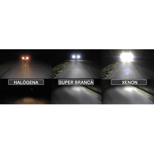 lampada hb3 super branca tipo xenon