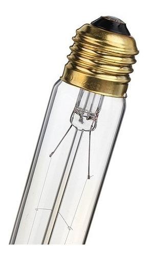 lampada incandescente vintage retro e27 110v 60w t10 edison