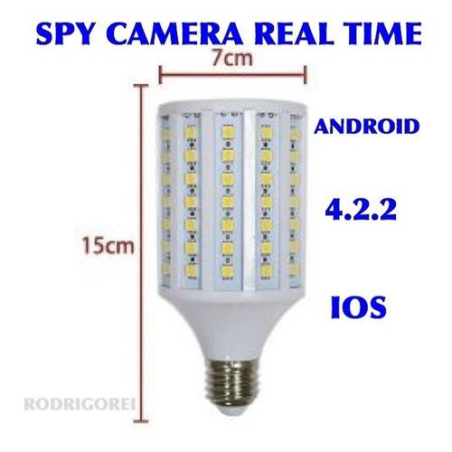 lampada inteligente - wi-fi - c/camera real time espionagem