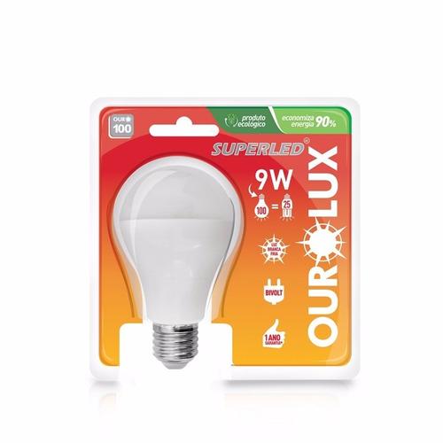 lampada led 9w ourolux le