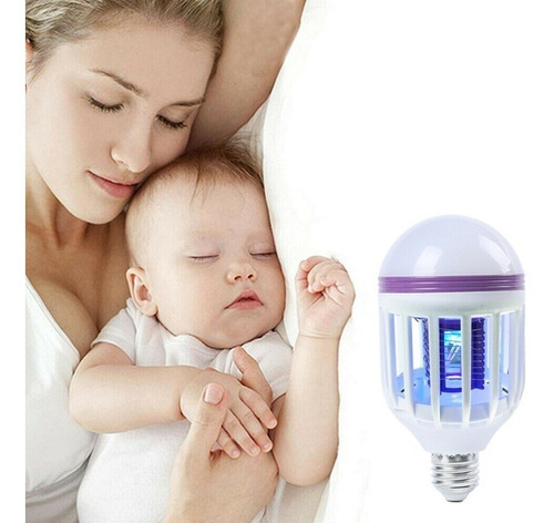 lampada led bulbo 15w mata mosquito insetos voadores