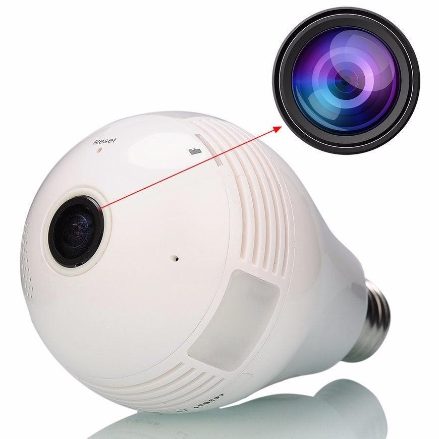 Lampada Led Com Camera 360 Graus Wifi Espião Iphone