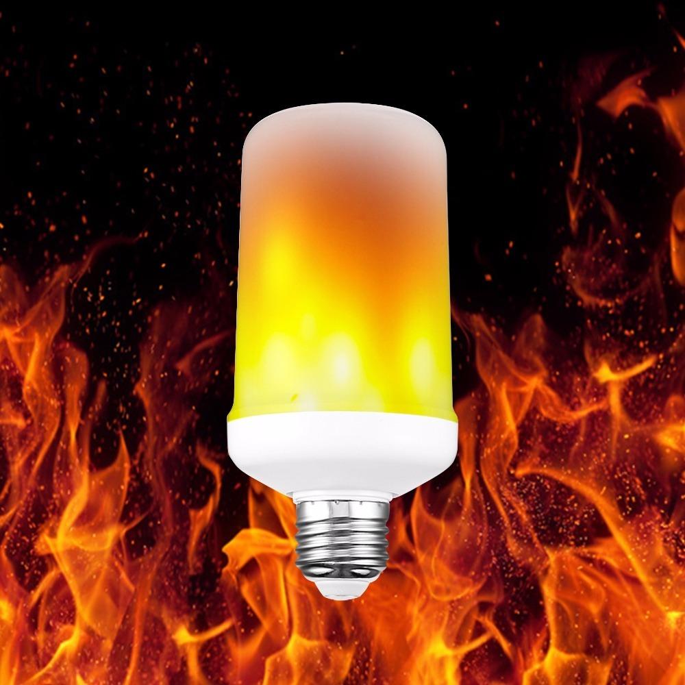 Lampada led com efeito de chama fogo r 49 99 em mercado for Lampada led