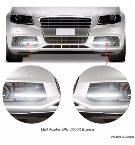 lampada led drl 6000k farol dia auxiliar branca efeito xenon