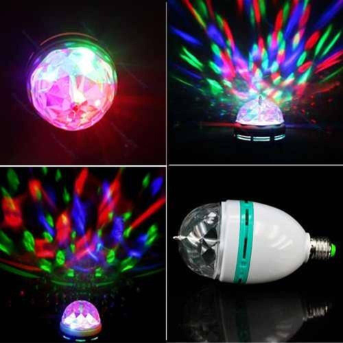 lampada led giratoria rgb colorido festa bola bivolt