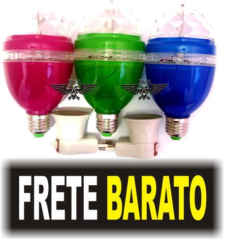 lampada led giratorio valor únitario p/ festa produto novo!