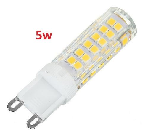 lampada led halopin g9 5w para lustre arandela e decoração