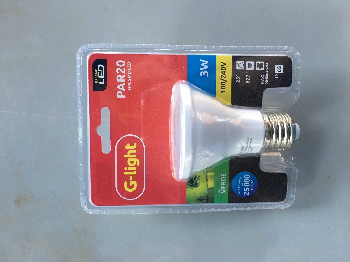 Lampada led par20 3w verde g light 9 pçs r$ 150 00 em mercado livre