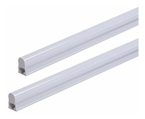 lampada led tubular t5 30cm 6000k base/calha completa