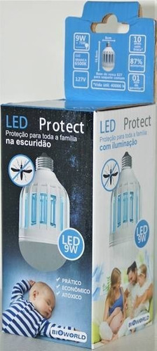 lampada mata mosquitos 9w led protect dyt80 bioworld