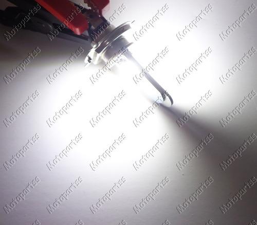 lampada moto h4 super led efeito xenon 8000k 35w cg ybr cb