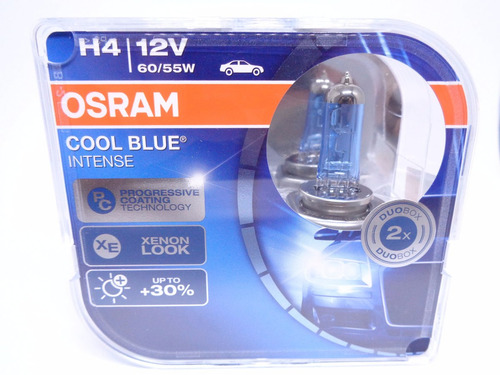 lampada osram cool blue intense h4 xenon look4200k 30 luz r 132 20 em mercado livre. Black Bedroom Furniture Sets. Home Design Ideas
