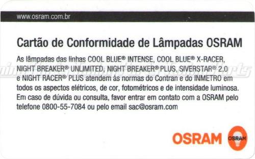 lampada osram h7 night breaker unlimited par farol 110%+ luz