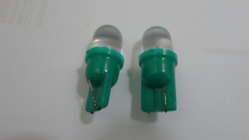 lampada painel led 12v esmagada verde o par e10156