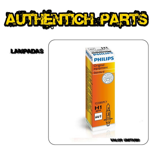 lampada philips standard h1 fiat idea 1.4 8v flex 05 à 10 - lampada do farol alto