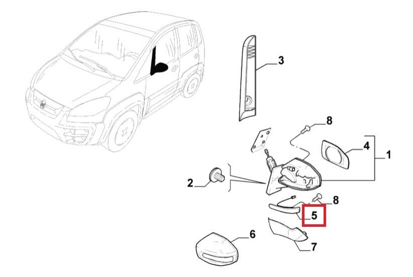 Lampada Retrovisor Direito Fiat Idea 2011 2016 Original