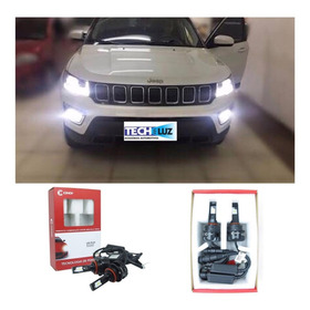 Lampada Super Led Jeep Compass 2017 18 19 Kit Completo + Drl