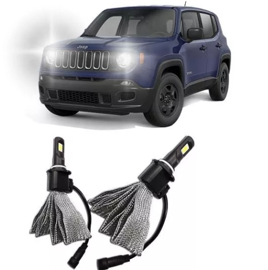 Lampada Super Led Jeep Renegade 15 16 Farol Baixo E Alto H4 R 169