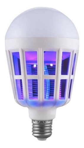 lampada uv mata mosquito luz led 15w bivolt 110