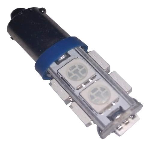 lampara 12v 10 leds 3528 azul ba9s 2662