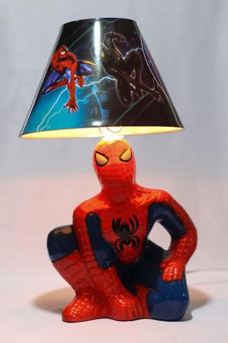 lampara 13 pzas hombre araña fiesta spiderman centro de mesa
