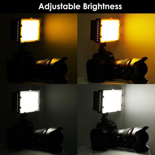 lampara  160 led para vídeo o fotografia / kit accesorios
