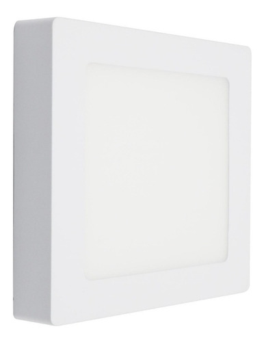 lampara 24w led panel cuadrado superficial 6000k