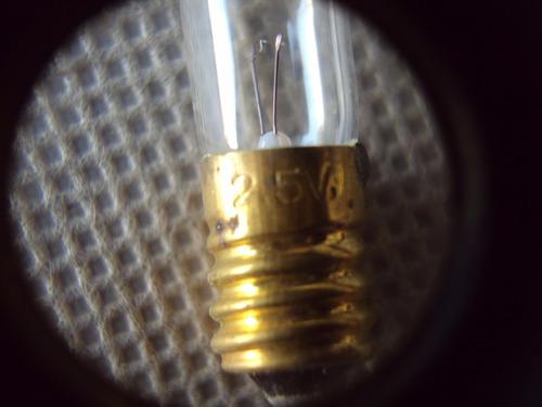 lampara 2,5v terminales , repuesto lote caja de herramientas