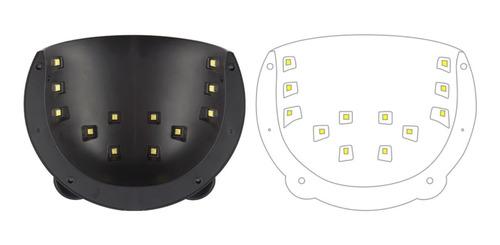 lampara 36 w 12 foco led  uñas diseño de panda+100 cristales