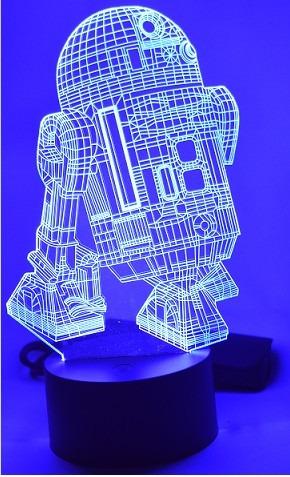 lampara 3d colores