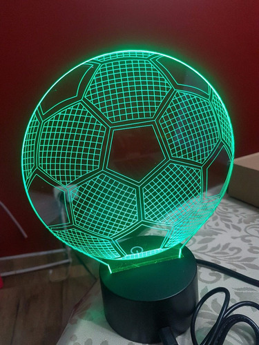 lampara 3d, led futbol - basket