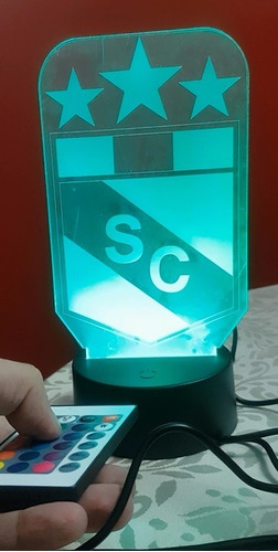 lampara 3d, led, sporting cristal