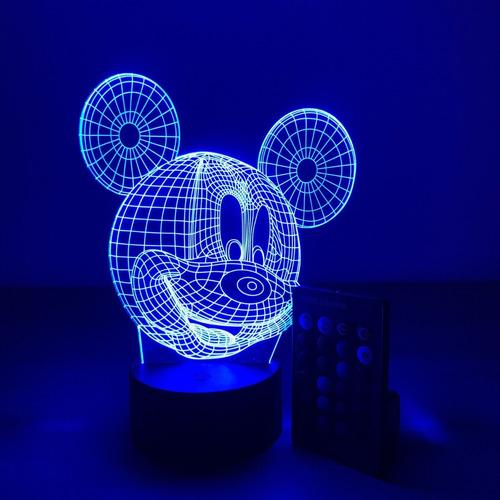 lámpara 3d mickey mouse 16 colores