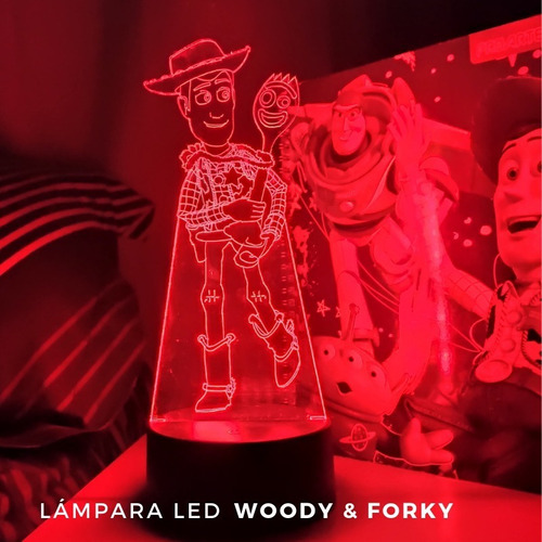 lampara 3d woody & forky / toy story