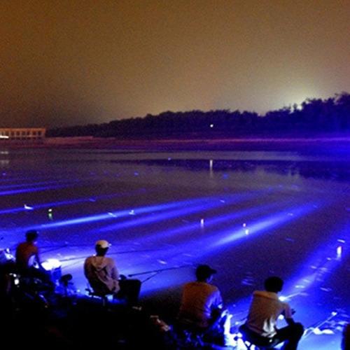 lampara 5000 lumens doble led azul/blanco. recargable c/agua