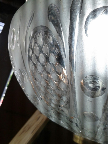 lámpara antigua bronce y vitreaux 50 cm. bronce vitro