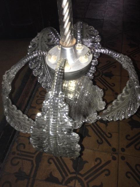 Lampara antigua de vidrio tallado en mercado - Lamparas de cristal antiguas ...