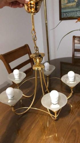 lámpara antigua tipo araña