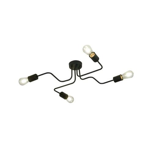 lampara aplique araña 4 luces moderna hierro negro 220v deco