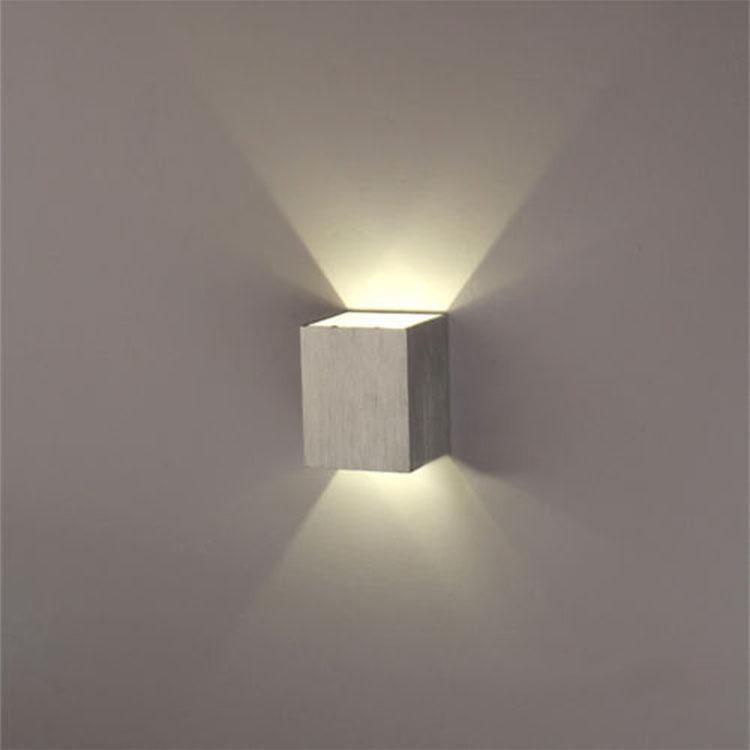 lmpara aplique de pared led 3w cuadrada y moderna psala av - Lampara Pared