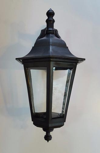 lámpara aplique farol pvc hexagonal exterior e27 - apto led!