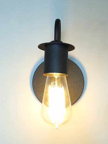 lampara aplique industrial metal e27 led cod 461