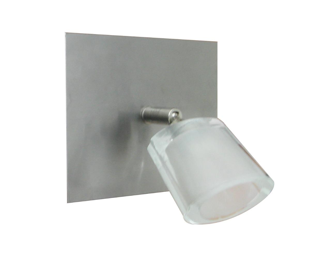 Lamparas Baño | Lampara Aplique Para Bano De Cristal Base En Acero 862 00 En