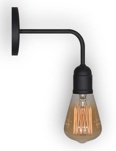 lampara aplique pared industrial moderno vintage apto led